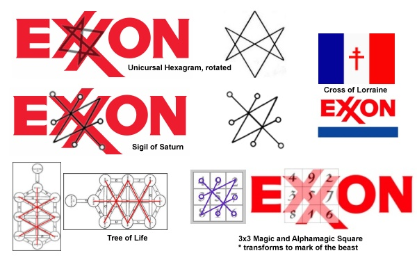 Image result for exxon mobil occult logo