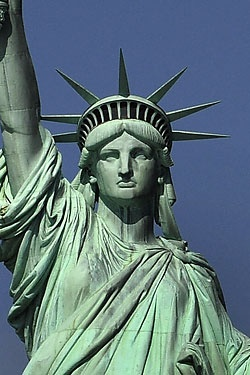 that is the Statue of Liberty  There are seven rays of the sun crown    Statue Of Liberty Head And Crown